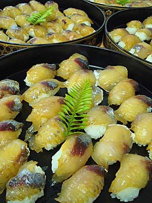 三根婦人会の島寿司