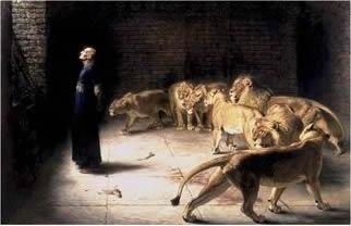 獅子の穴にて