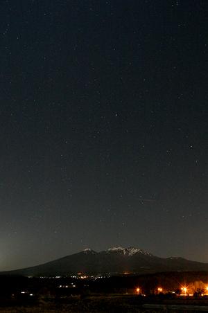 星と八ヶ岳-1