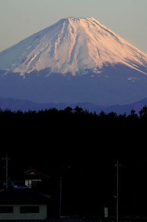 夕暮れの富士-1