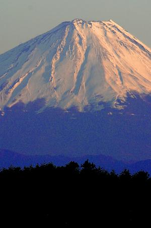 夕暮れの富士-2