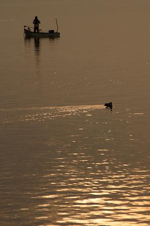 河口湖での撮影-1