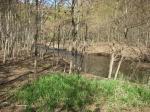 堰堤上の流れ
