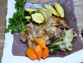 マリネチキンのオーブン焼き