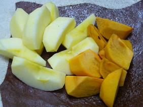 りんごと柿