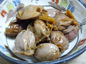 砂肝の甘辛煮