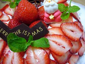 苺のリースケーキ