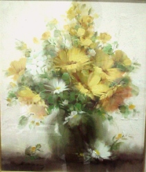花の額yellow