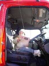 消防車を運転