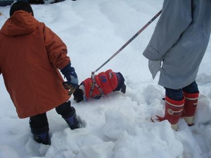 初雪体験3