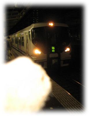 電車が来たよ