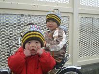 自転車と三輪車で♪♪
