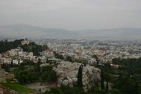 アクロポリスの丘から古代アゴラを臨む