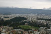 アクロポリスの丘からゼウス神殿を臨む