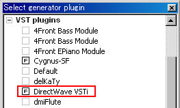 DirectWave VSTiプラグイン