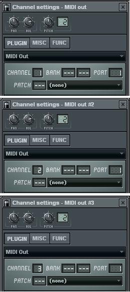 MIDI Outチャンネルの設定