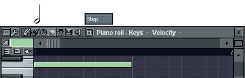 2分音符の入力