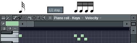 32分音符の入力