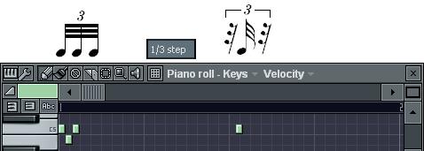 3連32分音符の入力