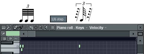 3連64分音符の入力