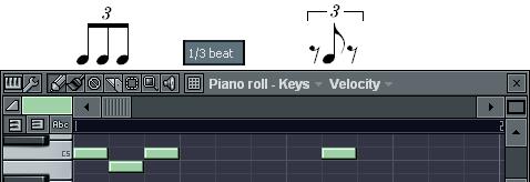 3連8分音符の入力
