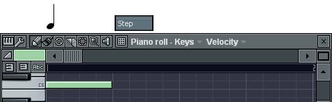 4分音符の入力
