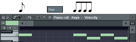 8分音符の入力