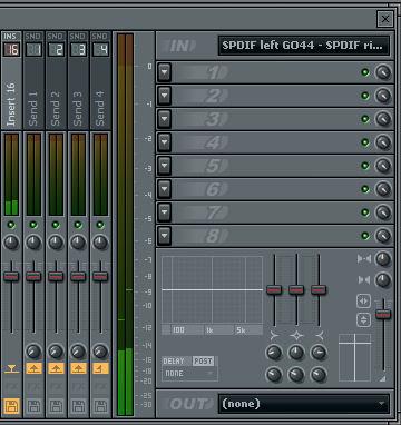 FLStudio7 デジタル入力時の音量