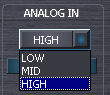 GO44ミキサー アナログ入力ゲイン切り替え