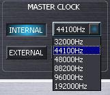 GO44ミキサー マスタークロック切り替え