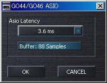 GO44 ASIO設定画面