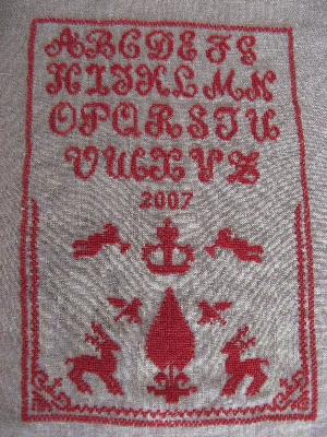 サンプラー刺繍