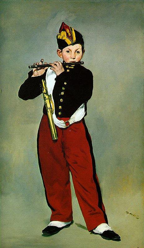 笛を吹く少年 マネ