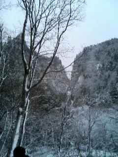 凍ってたって眺めは壮観!!