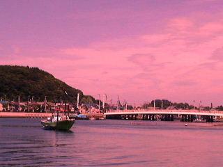 現在の夕日の野島