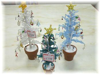 ビーズのクリスマスツリー