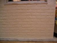 漆喰を煉瓦調に…