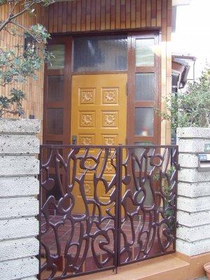 玄関ドアー塗装