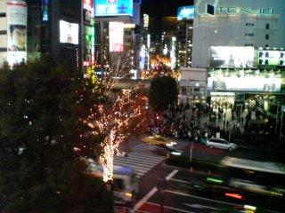 渋谷の夜景12.26