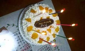 さくら誕生日ケーキ2008