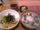 納豆トロトロ&湯葉味噌汁