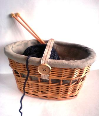 編み物用カゴ