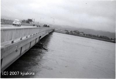 堤決壊当時の加治大橋