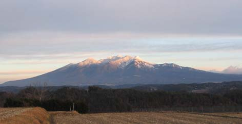 早朝の八ヶ岳