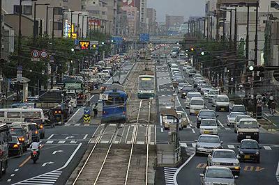 広島市内の渋滞