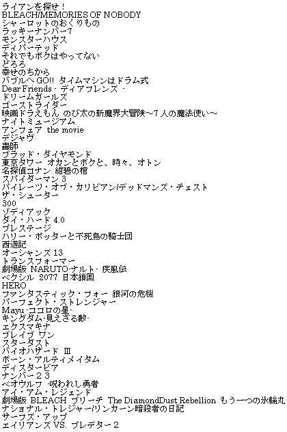 2007年映画総集編