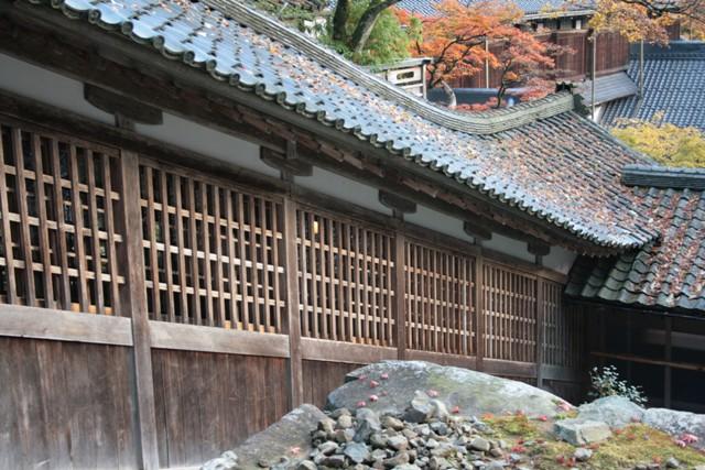 永平寺の秋の終わりの色
