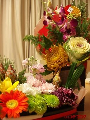 お正月のお花。
