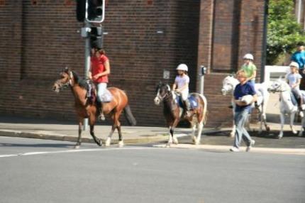 センテニアル・パークでは乗馬も出来ます。
