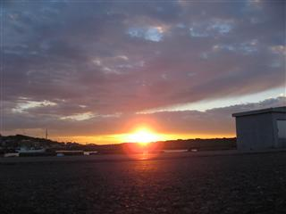 外川にて 朝陽